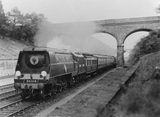 Southern Railway (SR) locomotive 35019 'French Line CGT' (Sonning Cutting 1948).