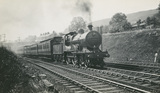 LMS Super D Class 2 4-4-0 locomotive No.461 with a Buxton Train leaving Chinley, 16th July 1928. S.T. Cowan, Ia_27, Album 5.