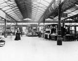 Passengers at Waterloo Station, London, c.1900.