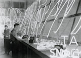 Working on neon tube signs, February 1933.