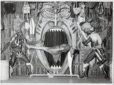 Prince Kari-Kari's 'Jungle Fantasy', girl suspended horizontally by neck 1949