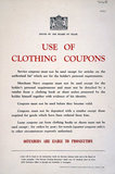 Use of Clothing Coupons