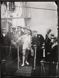 'Olympic torch reaches Dover...', 1948