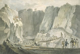 'Slate Quarry near Bangor', Wales, 1807.