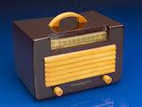 Radio with plastic cabinet, 1940s.