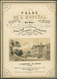 Valse de L'Hopital', sheet music cover, by E.Carpentier de Selvier. Exeter, England, 1800s.