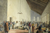 Watercolour showing the interior of Scutari Hospital, 1857.