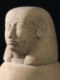 Canopic jar, Egypt, 2000 BCE-100 CE.