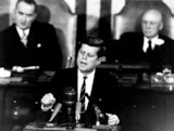 Kennedy Delivering Historic Speech to Congress
