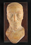 Wax death mask of Benjamin Disraeli, England, 1881.