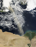 A Dust Plume Across the Mediterranean Sea