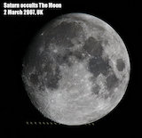 Saturn occults the Moon, by Jamie Cooper.