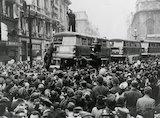 Crowd in London Streets.