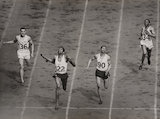 The finish of the men's 400 metres at the Olympics, London, 1948