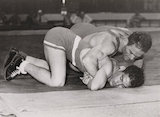 Greaco-Roman wrestling at the Olympic Games, London, 1948