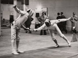 Sword fencing at the Olympic Games, London, 1948