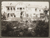 Russian snapshot album: view of villa and garden, c.1915