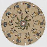 Phenakistoscope disc: dancing man and frog