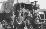 A Group of First World War Soldiers in Front of Their Truck - c1916