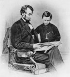 Abraham Lincoln with his son Tad