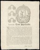 Trade card for John Yarwell, optician, 1697.