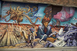 Mural by Jim Rockwell in honour of Moebius