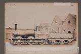 Works photograph of Madras Railway '0-6-0' locomotive, 1858.