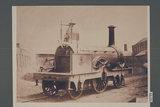 Works photograph of Lombardo-Venetian Railway '2-2-2' locomotive, 1857.