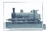 Works photograph negative of Great Northern Railway of Ireland '0-6-0' locomotive 'Wicklow', 1888.