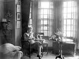 €˜Authoress Richmal Crompton Lamburn, creator of 'Just William', at her home at Bromley, Kent. - 28-June-1946