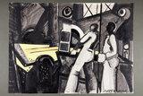 Crayon drawing Rod Mill, 1974