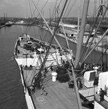 Boat at Ocean terminal, 1950