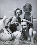 Happy Family at Seaside, c 1937.