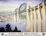 'The Royal Albert Bridge, Saltash', GWR poster, 1945.