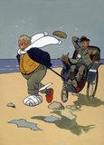 'The Skegness Cure', original artwork for GNR poster, 1911.