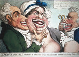 'A French dentist showing his artificial teeth and false palates', 1798.
