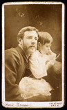 William Friese-Greene, British cinematographer, and daughter, c 1880.