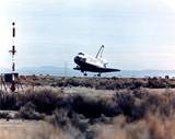 Space Shuttle Columbia landing, 1980s.