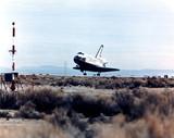 Space Shuttle Columbia landing, 1980s.