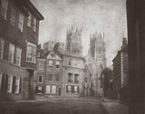 Street in York, with West Front of York Minster, Yorkshire, c 1845.