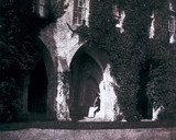 The Reverend Calvert Jones in the cloisters of Lacock Abbey, c 1843.