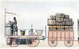 The 'Novelty' steam locomotive, c 1830.