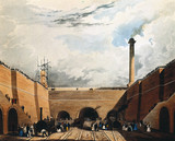 Entrance to the railway tunnel at Edge Hill, Liverpool, 1831.