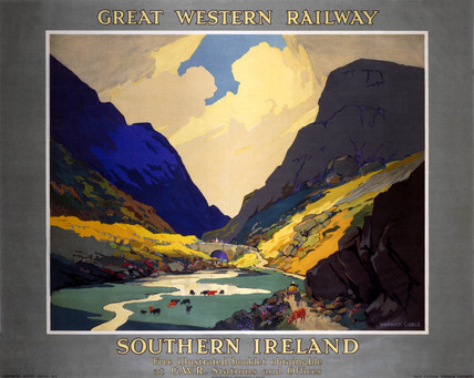 'Southern Ireland', GWR poster, 1923-1947.