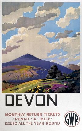 'Devon' GWR poster, 1937.
