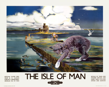'The Isle of Man', BR (LMR) poster, 1950.