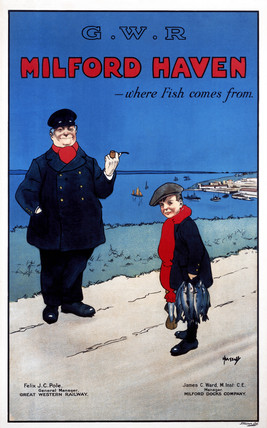 'Milford Haven - Where Fish Comes From', GWR poster, c 1925.