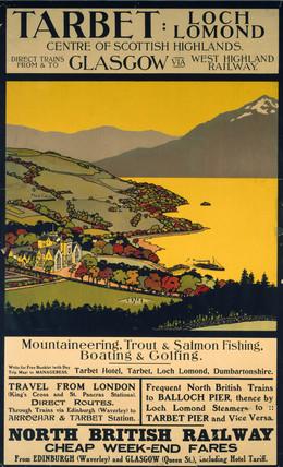 'Tarbet, Loch Lomond', NBR poster, 1900-1922.