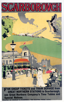'Scarborough', GNR poster, 1900-1915.