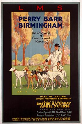 'Perry Barr, Birmingham', LMS poster, 1928.